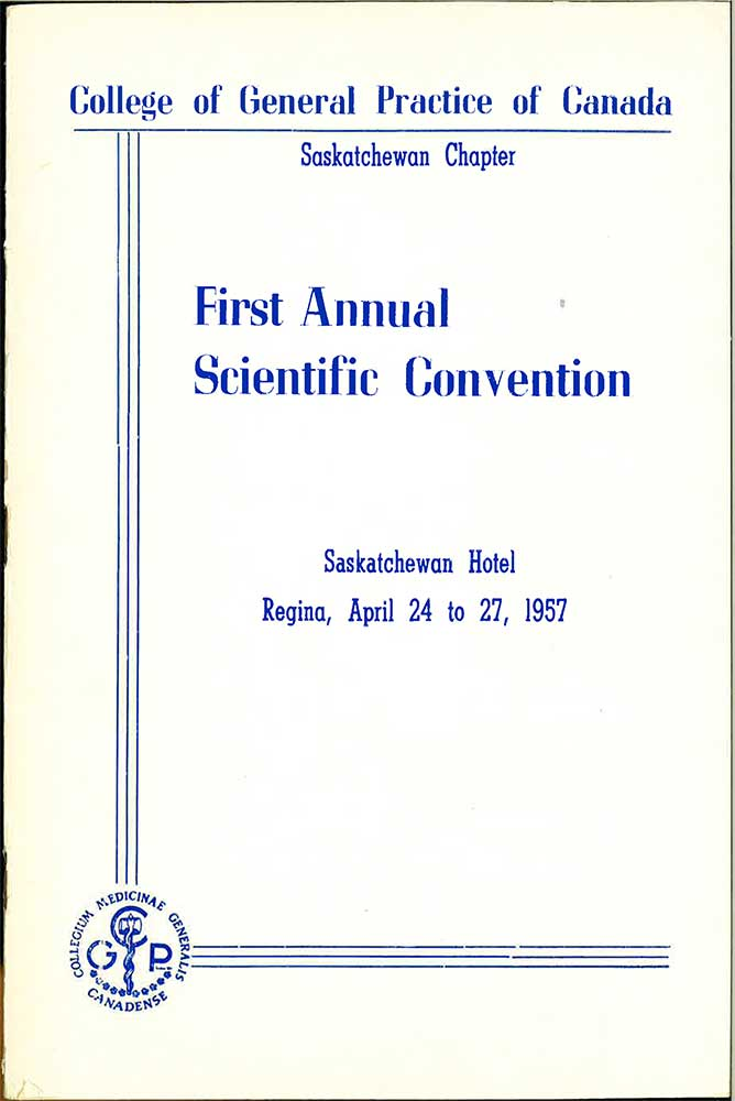First Annual Scientific Convention<br>Program Cover