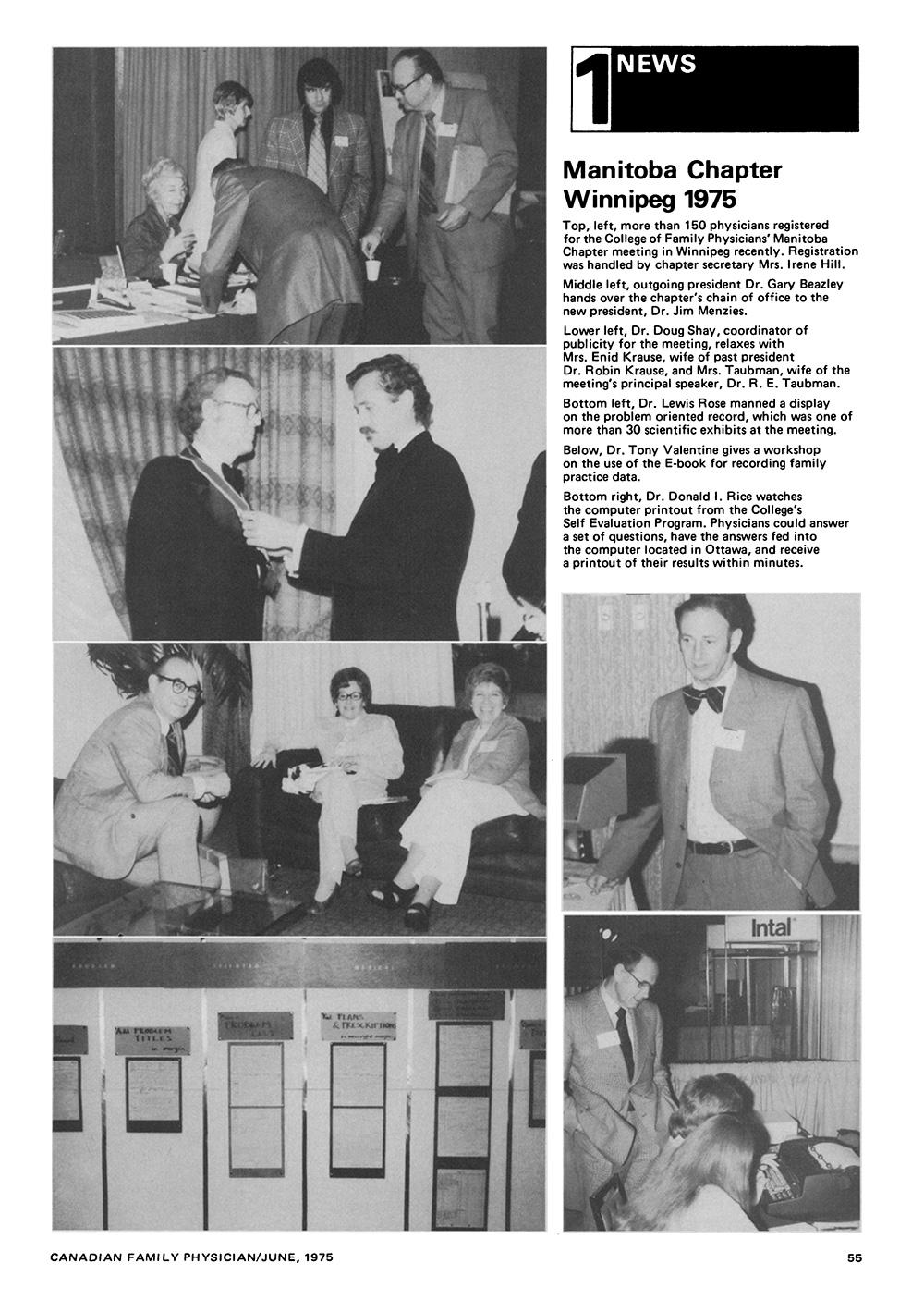 Manitoba Chapter meeting, 1975