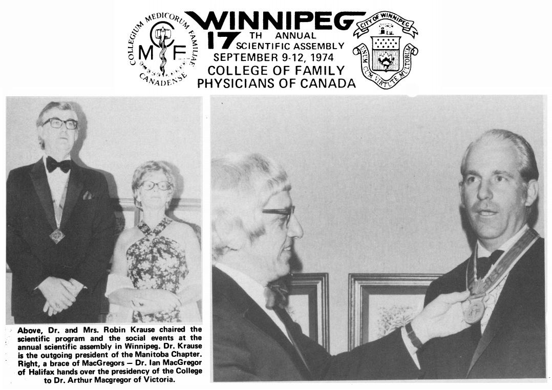 Scenes from College meetings, 1974