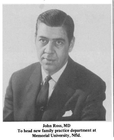 Dr John Ross dirigera le nouveau département de médecine générale