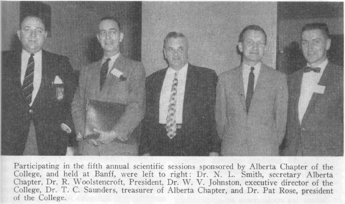 Alberta Chapter sponsors 5th Annual Scientific Sessions in Banff, 1959