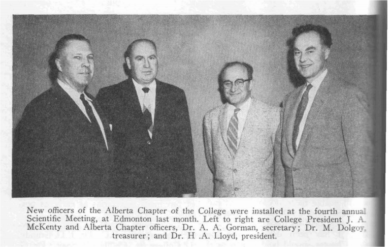 4e assemblée scientifique annuelle de la section provinciale de l'Alberta, 1958