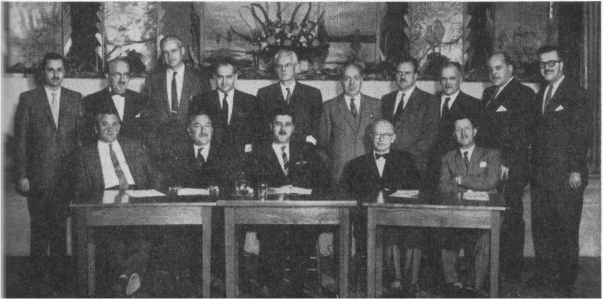 Members of the Executive Committee of the Provincial Québec Chapter, November 30th, 1957