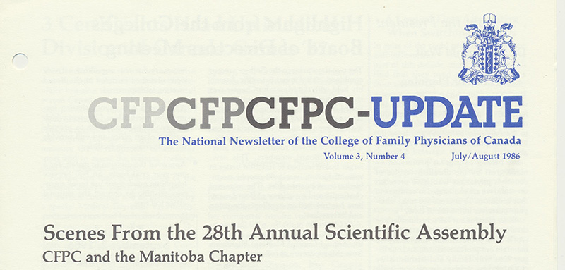 Manitoba Chapter hosts 28th Annual Scientific Assembly, 1986
