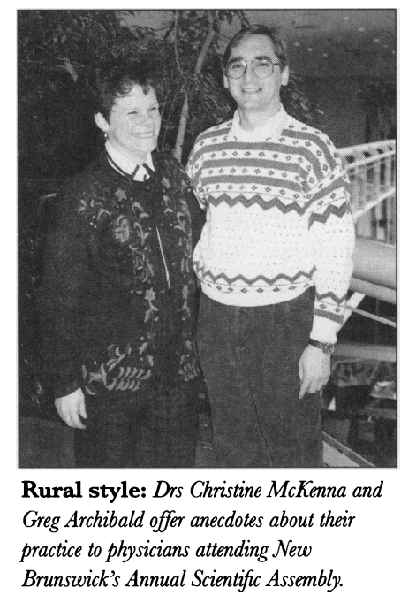 Chapter members discuss rural practice and medicine in New Brunswick, 1994