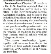 Les bureaux de la section aménagent leurs nouveaux locaux dans l'immeuble de l'association médicale de Terre-Neuve