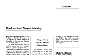 Annual meeting held in December 1970 at the Arts and Culture Centre in St. John's