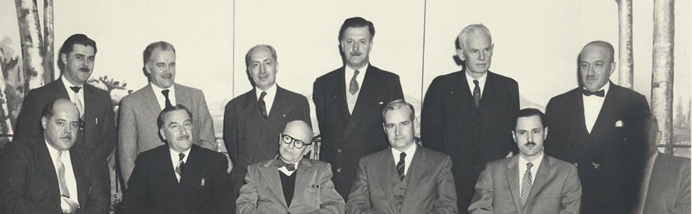 Members of the Executive Committee of the Provincial Québec Chapter, 1956