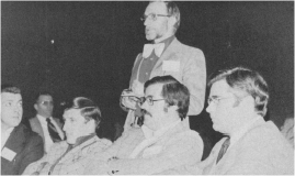 Dr D. E. Wyatt, President of the Newfoundland Chapter, speaks at the Nova Scotia Chapter's annual business meeting, 1974